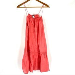 J. Crew Coral Linen Getaway Dress